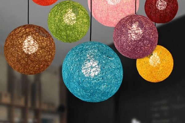 Lámparas recicladas de hilo